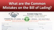 What are the Common Mistakes on the Bill of Lading?