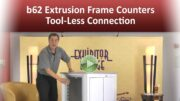 b62 Extrusion Frame Counters – Tool-Less Connection